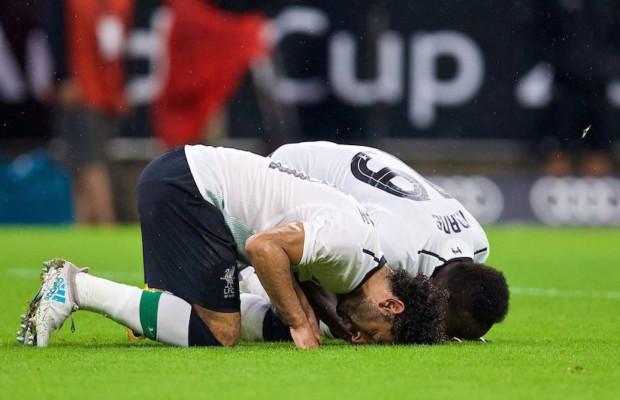 Le geste religieux du duo africain Sadio Mané et Mohamed Salah