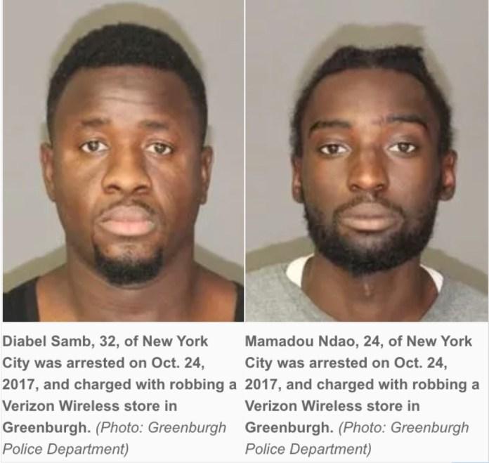 Deux sénégalais, résidents de la ville de New York accusés d'avoir cambriolé un magasin à Greenburgh