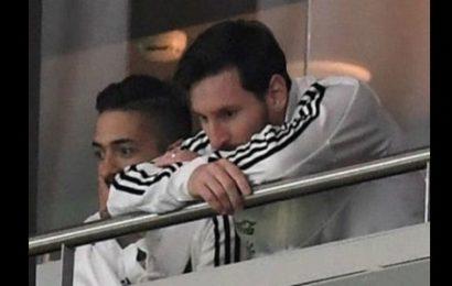 Lionel Messi se faufile  après l'humiliation 6-1 de son équipe contre l'Espagne (photos)