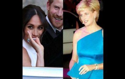 Meghan Markle porte la bague en diamant de la princesse Diana