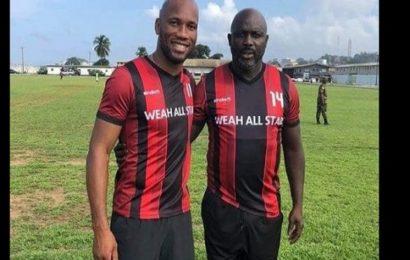 Liberia: Didier Drogba et le président Weah jouent pour la charité