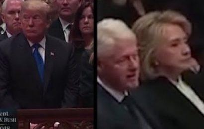Quand Donald Trump et Hillary Clinton se croisent, c'est glacial [vidéo]